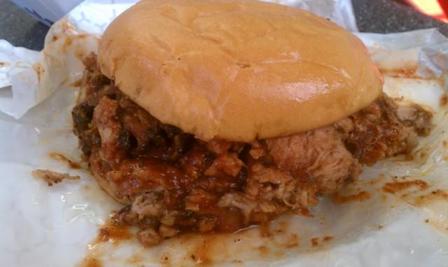 Roosters BBQ - BBQ Pork Sandwich