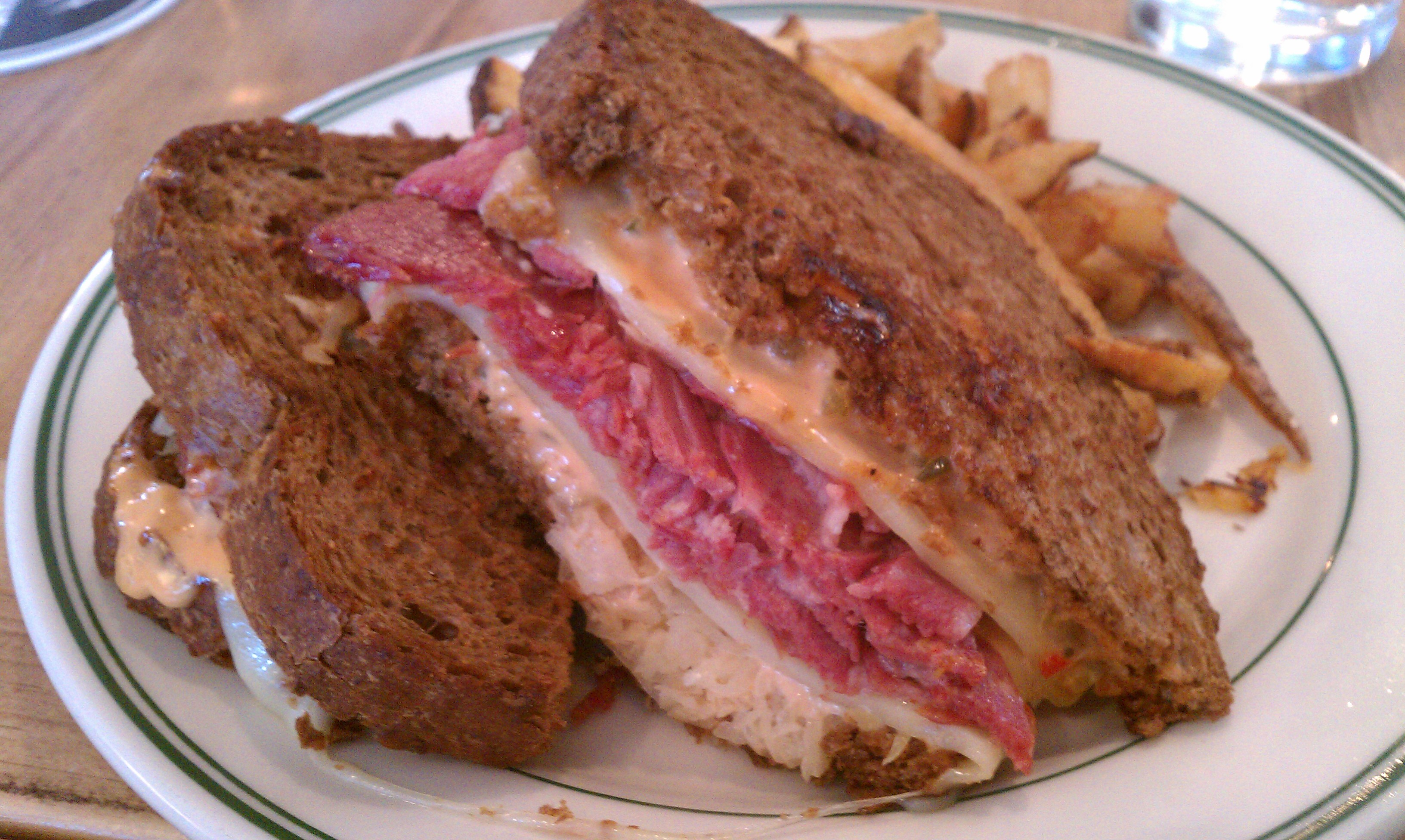 Next I Ordered The Ward 6 Reuben Made With House Cured Corned Beef Sauerkraut Swiss Cheese And Their Take On Thousand Island Which They Call 10 000 Lake